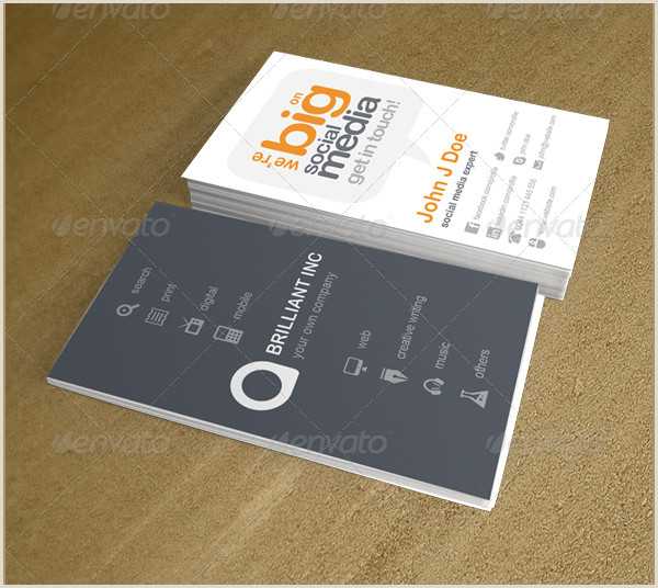 Business Card Examples With Social Media Social Media Business Card Template 39 Free & Premium