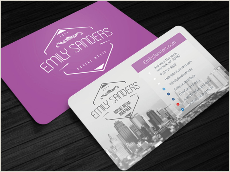 Business Card Examples With Social Media Social Media Icons On Business Cards 10 Awesome Examples