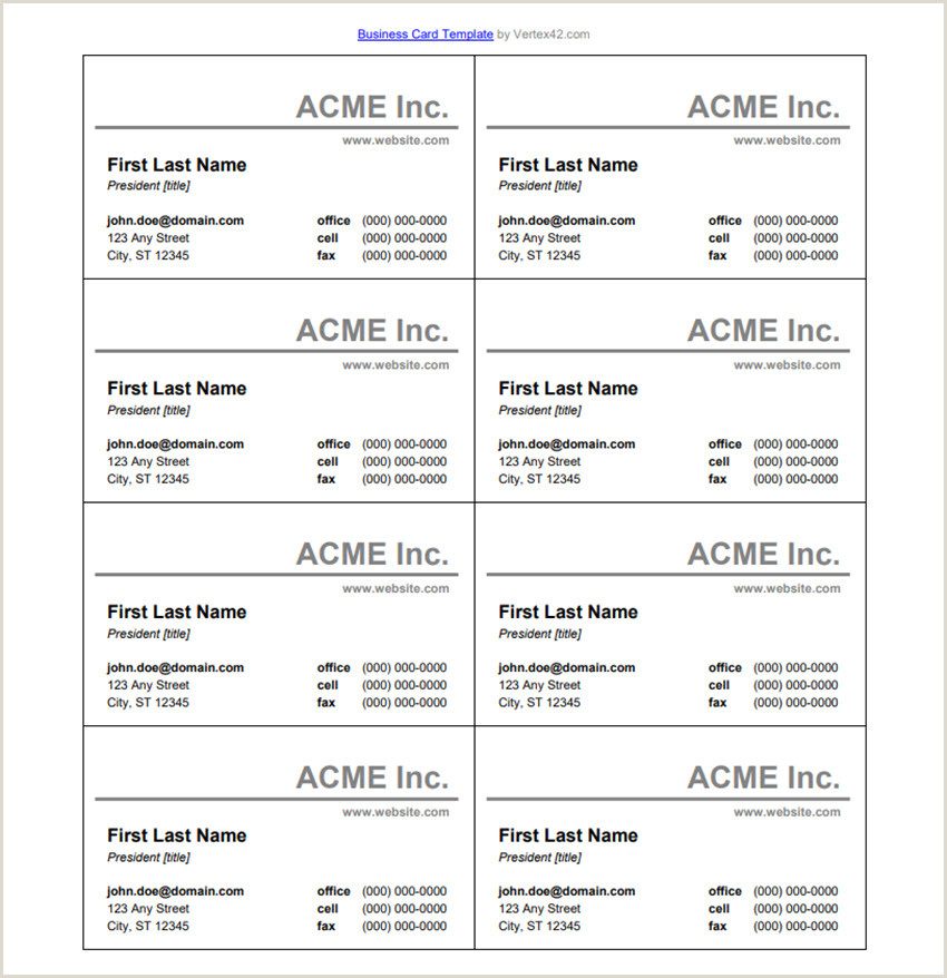 Business Card Format Word 25 Free Microsoft Word Business Card Templates Printable