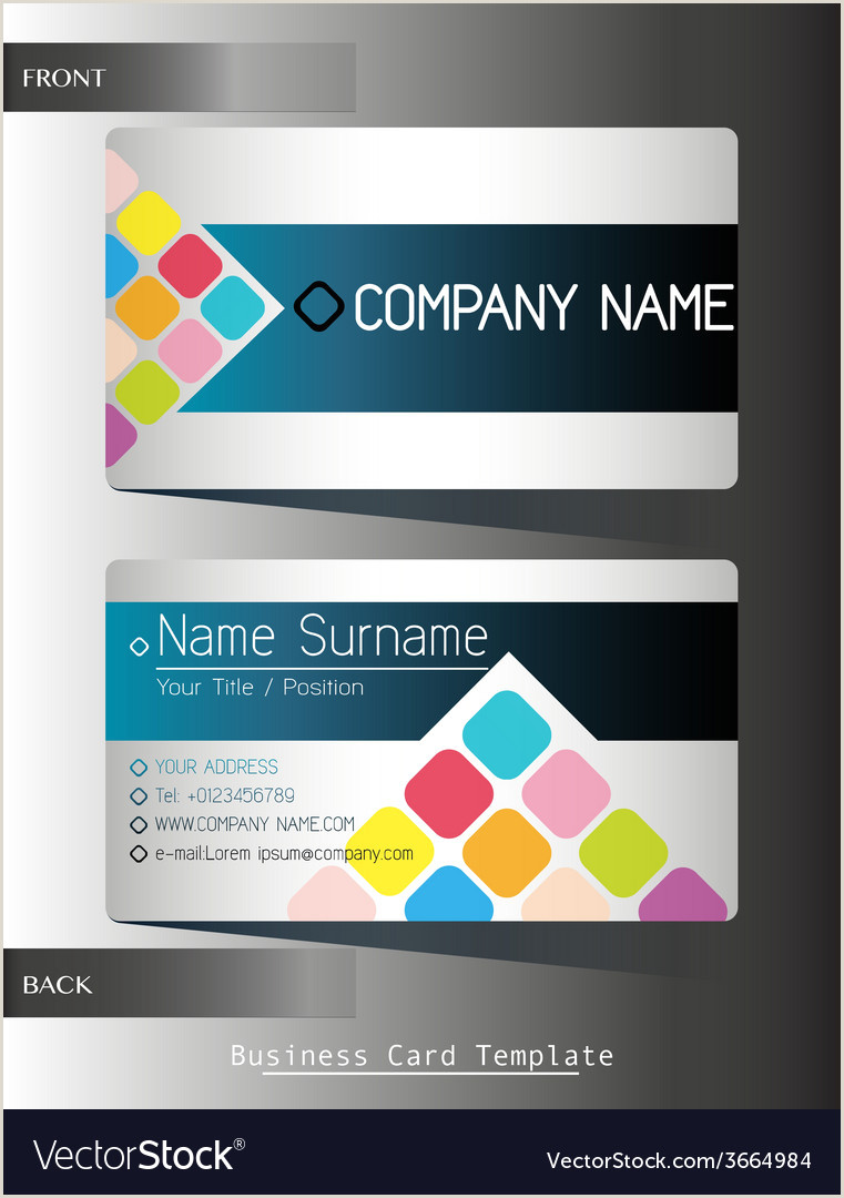 Business Card Front And Back A Front And Back Business Card