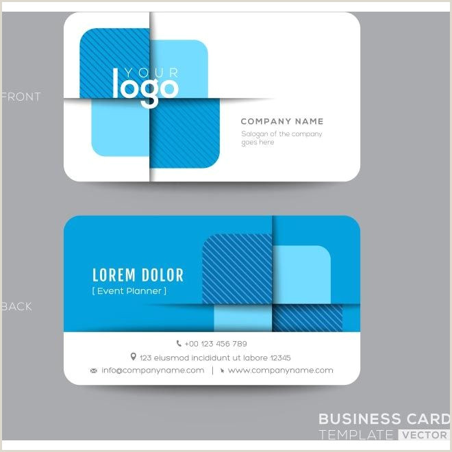 Business Card Front And Back Free Vector Creative Business Cards Design Template Free