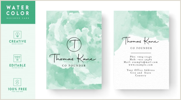 Business Card Front And Back Free Vector