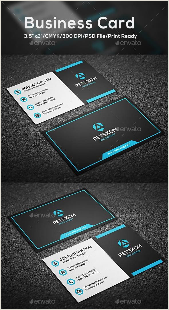 Business Card Front And Back Modern Business Card Vol 6
