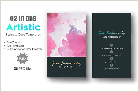 Business Card Ideas For Artists Artistic Business Card Template 010