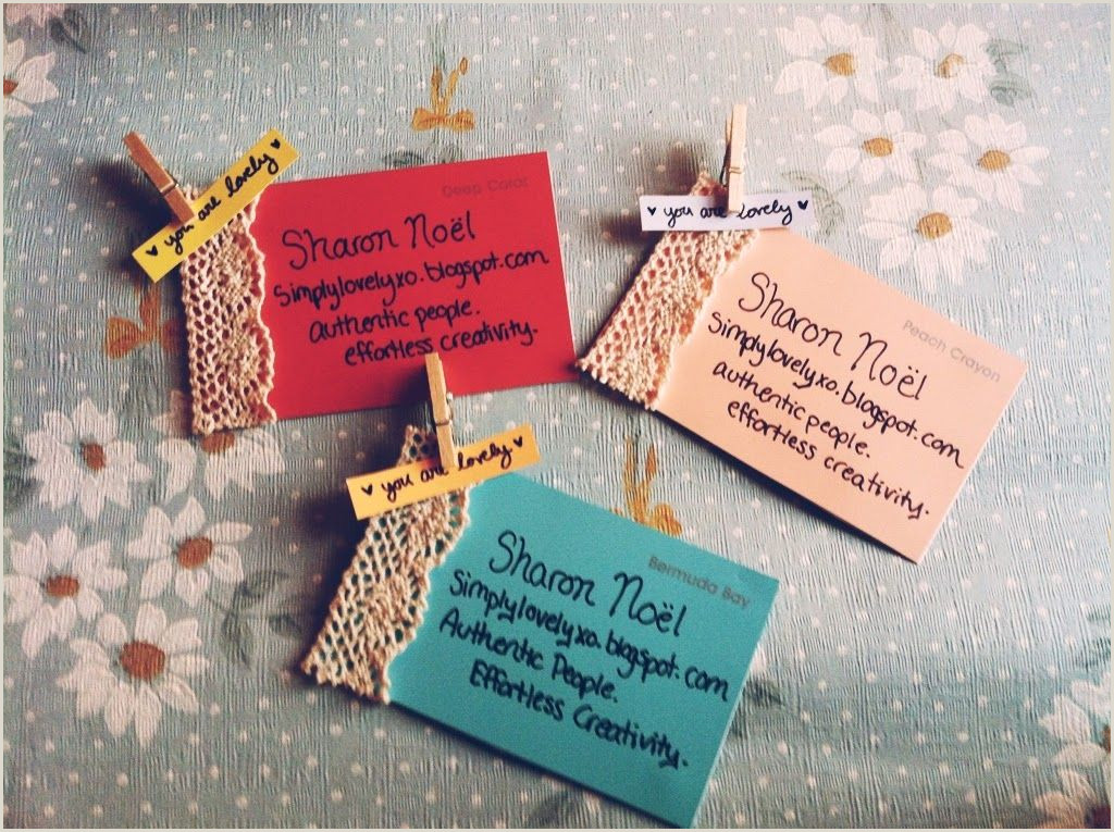 Business Card Ideas For Crafters Freely Ronnie Homemade Business Cards