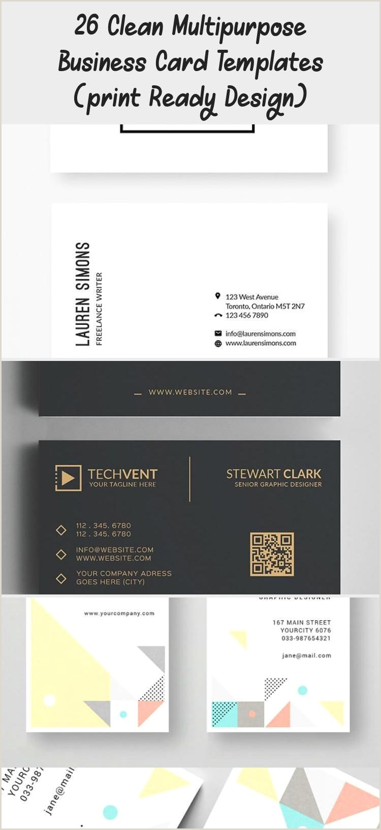 Business Card Pinterest 26 Clean Multipurpose Business Card Templates Print Ready
