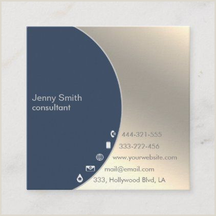 Business Card Pinterest Minimalist Simple Professional Gold Geometrical Square