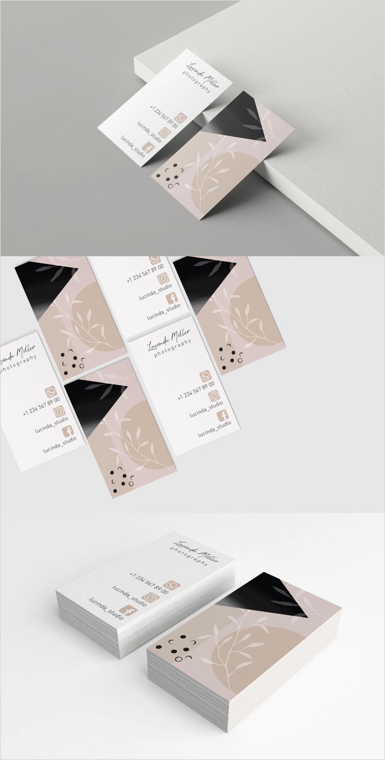 Business Card Pinterest Modern Business Card Template By Designloock On
