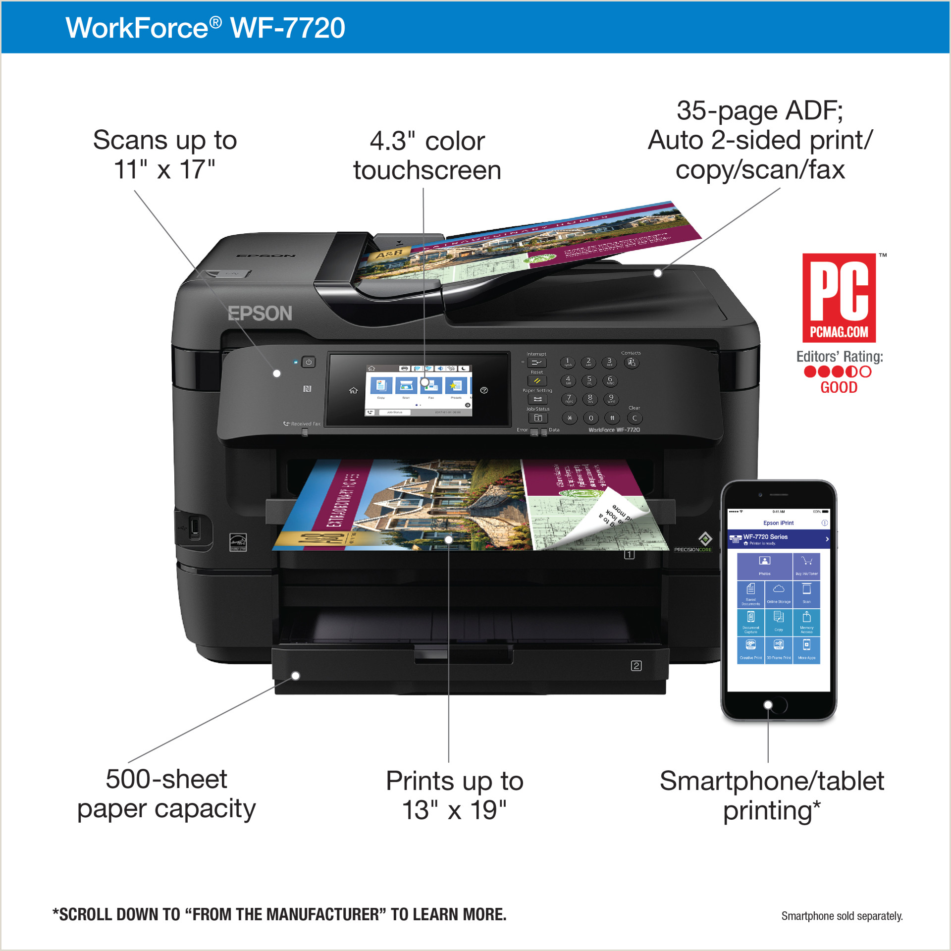 Business Card Printing Near Me Epson Workforce Wf 7720 19 Wide Format Wireless Inkjet All