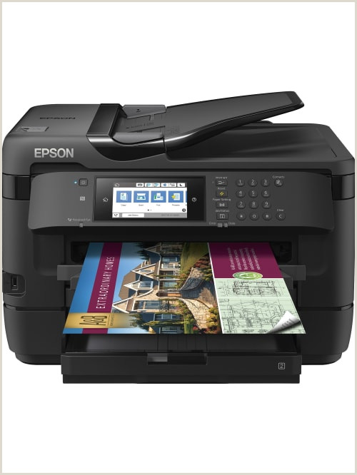 """Business Card Printing Near Me Epson Workforce Wf 7720 19"""" Wide Format Wireless Inkjet All In E Color Printer Item"""