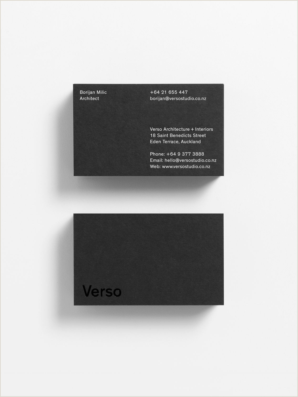 Business Card Side New Brand Identity For Verso By Studio South — Bp&o