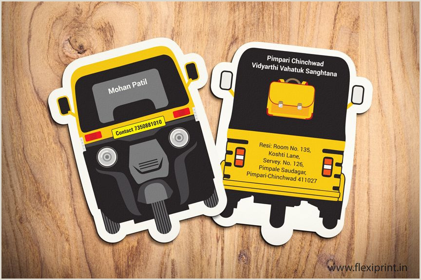 Business Card Side Unique Taxi Business Card Vozeli