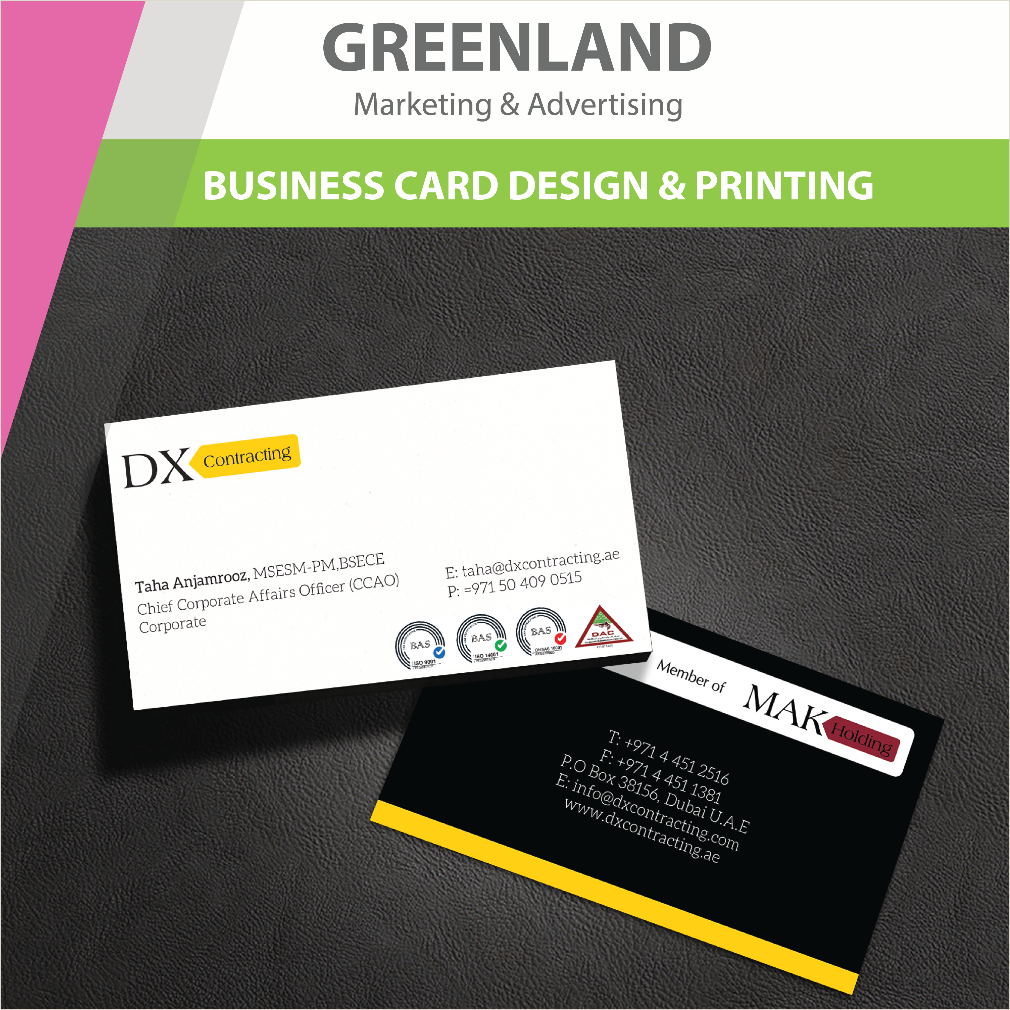 Business Card Simple Design A Simple Yet Elegant And Corporate Looking Businesscard