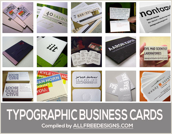 Business Card Text Typographic Business Cards 35 Great Design Examples