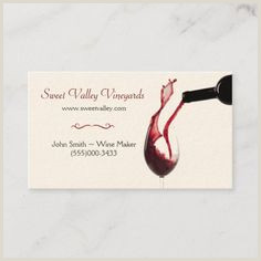 Business Card Titles For Owners 100 Best Wine Business Cards Images In 2020