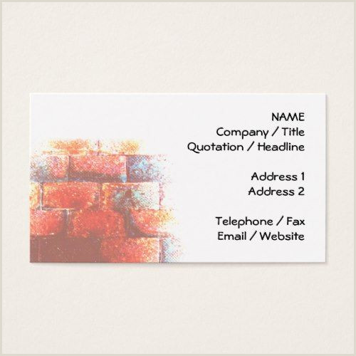 Business Card With 2 Addresses Brick Wall And White Space Digital Art Business Card