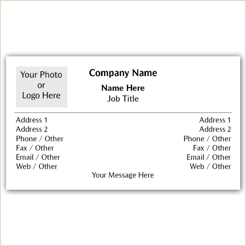 Business Card With 2 Addresses Dual Address Business Cards