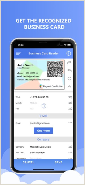 Business Card With 2 Addresses Pipedrive Crm Bizcard Scanner On The App Store