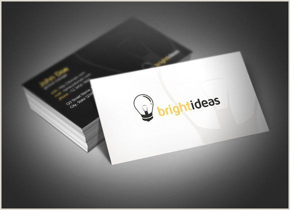 Business Card With Logo Bright Ideas Business Card