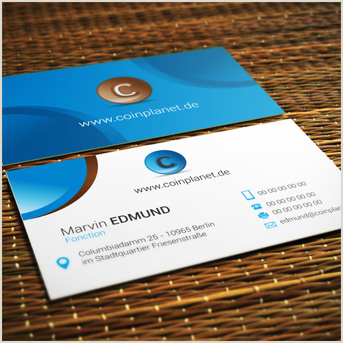 Business Card With Logo Coinplanet Young Startup Needs Logo And Business Card