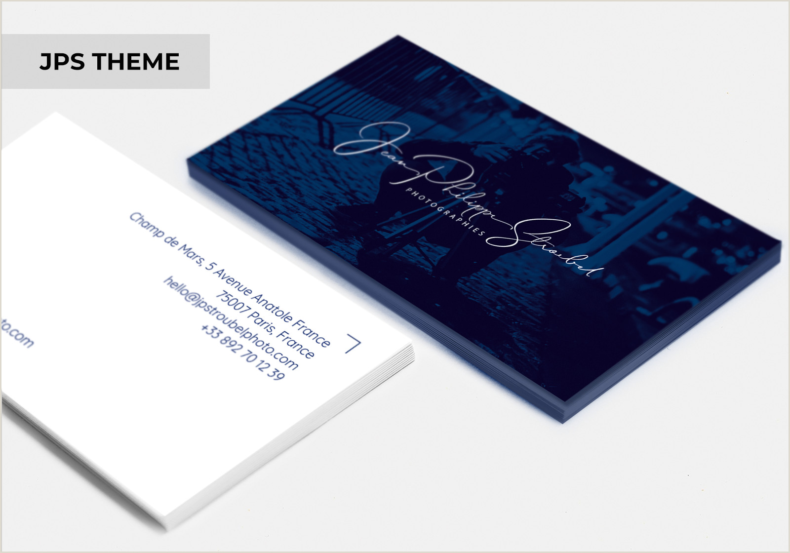 Business Card With Photo And Logo Business Cards