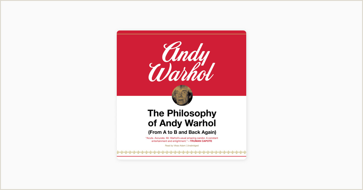 Business Card With Photo And Logo the Philosophy Of Andy Warhol From A To B And Back Again