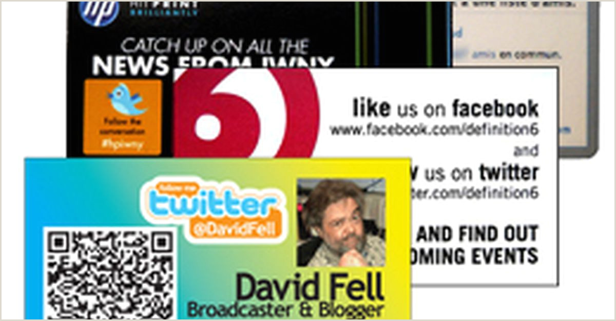 Business Card With Social Media 12 Clever Social Media Friendly Business Cards
