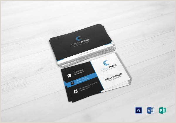 Business Card With Social Media 13 Social Media Business Card Templates Psd Word Ai