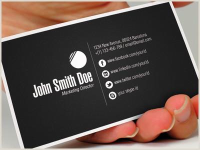 Business Card With Social Media Biglietti Da Visita Biglietti Da Visita In Pvc