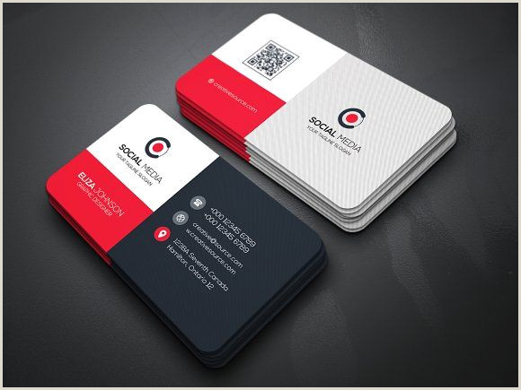 Business Card With Social Media Business Card