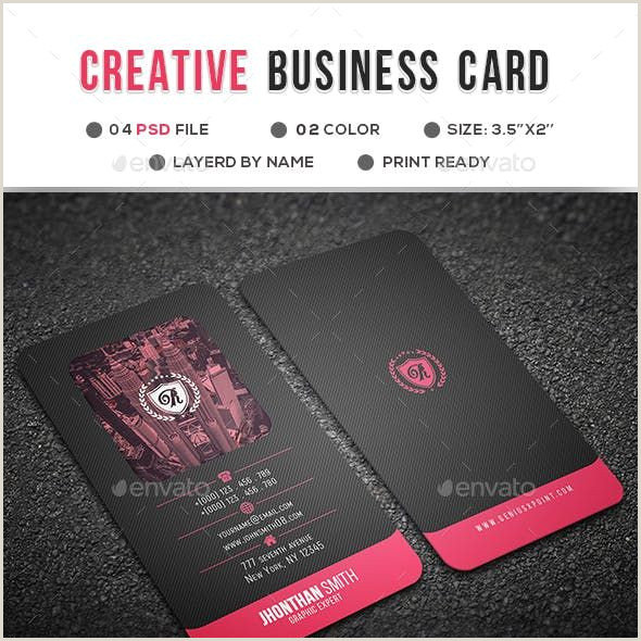 Business Card With Social Media Creative Business Card In 2020