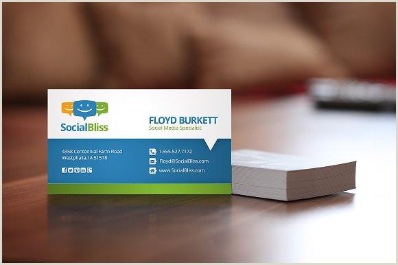 Business Card With Social Media Social Media Business Card