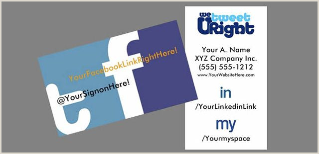 Business Card With Social Media Social Media Business Cards By Socialmediabizcards
