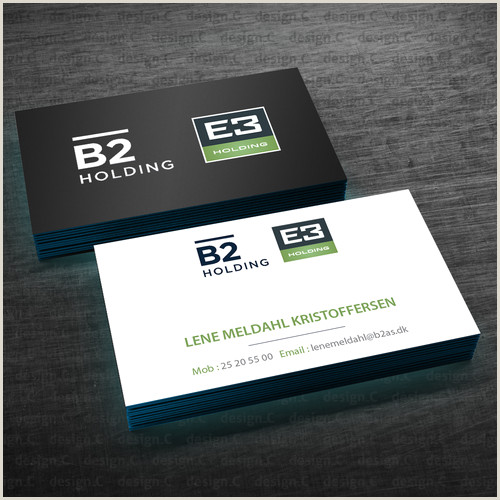 Business Card With Two Addresses Business Card For B2 Holding E3 Holding Both 2 Logos At The