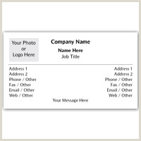 Business Card With Two Addresses Dual Address Business Cards