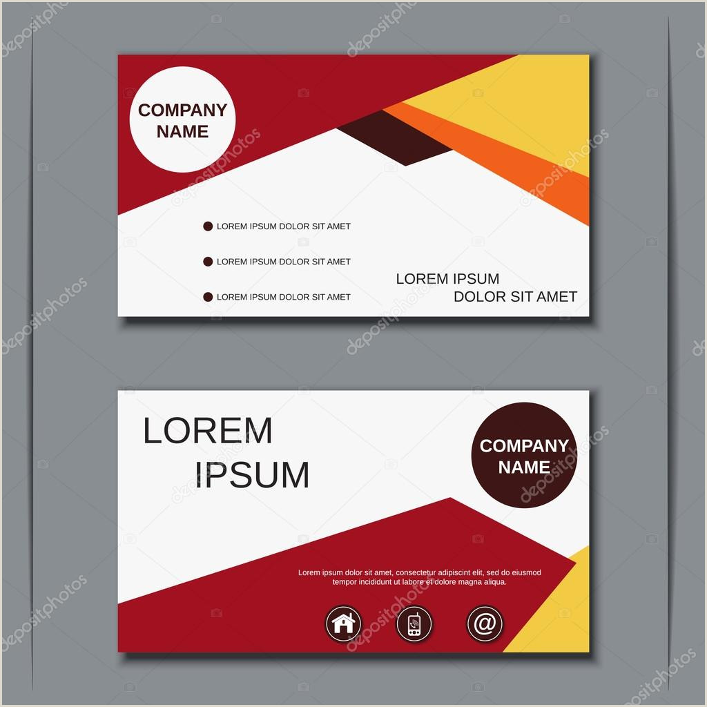 Business Card With Two Addresses Modern Business Two Sided Visiting Card Vector Design Template