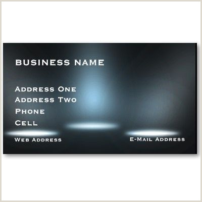 Business Card With Two Addresses Stage Lighting Music Business Card Zazzle
