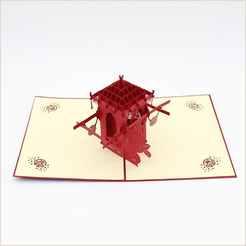 Business Cardd 3d Up Traditional Wedding Car Greeting Card Wedding Card Laser Cutting Envelope Postcard Carved Handmade Creative Gifts Love Birthday Cards Mail