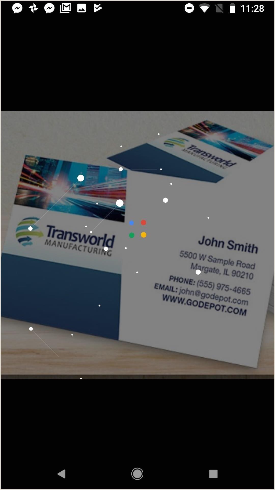 Business Cardd Business Card App 2018