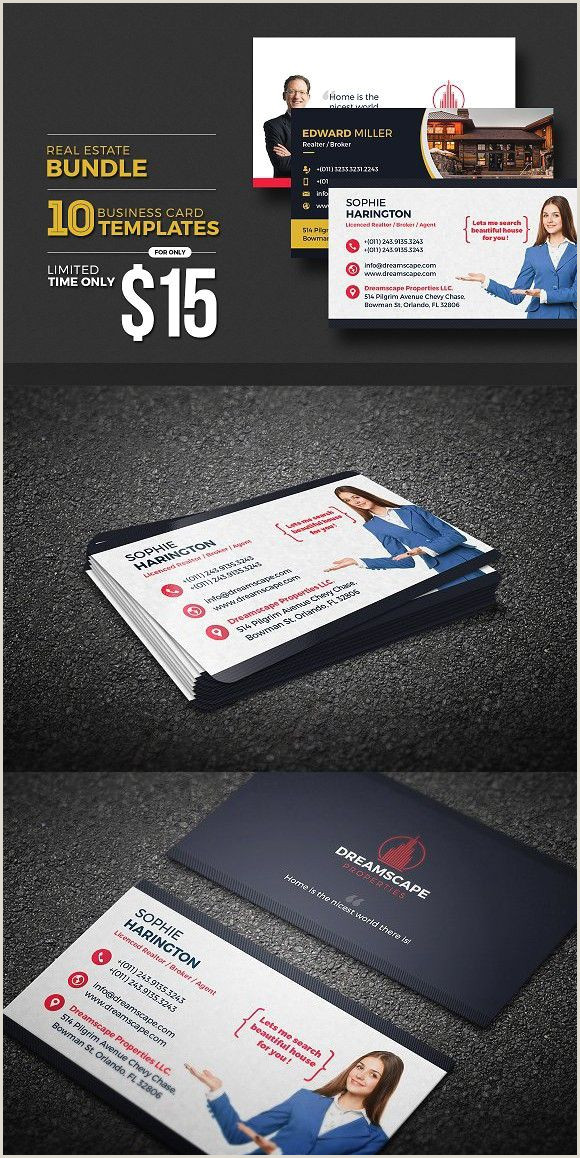 Business Cards Advertising Real Estate Business Card