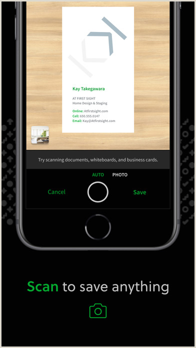 Business Cards At Home Evernote Notes Organizer On The App Store