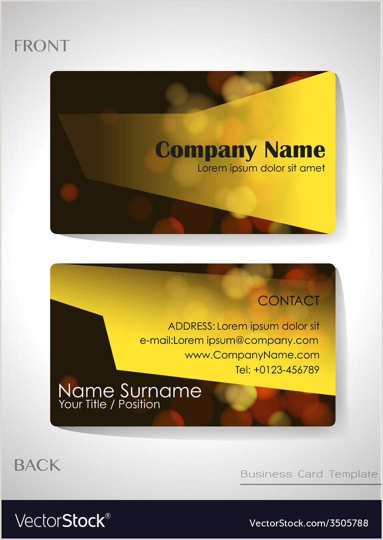 Business Cards Back And Front A Front And Back Business Card