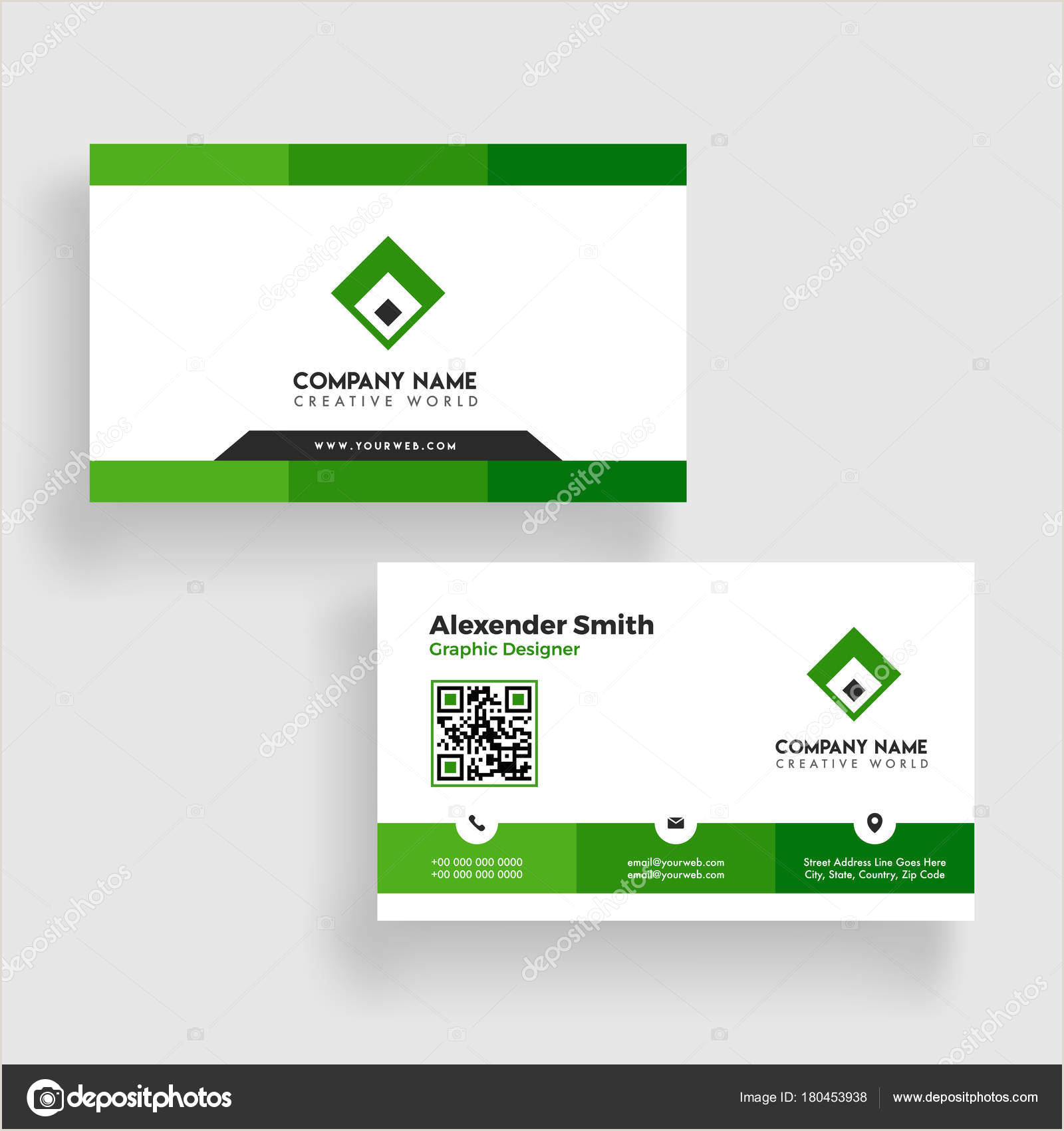 Business Cards Back And Front Modern Business Card Template Design Both Sided Contact Card F