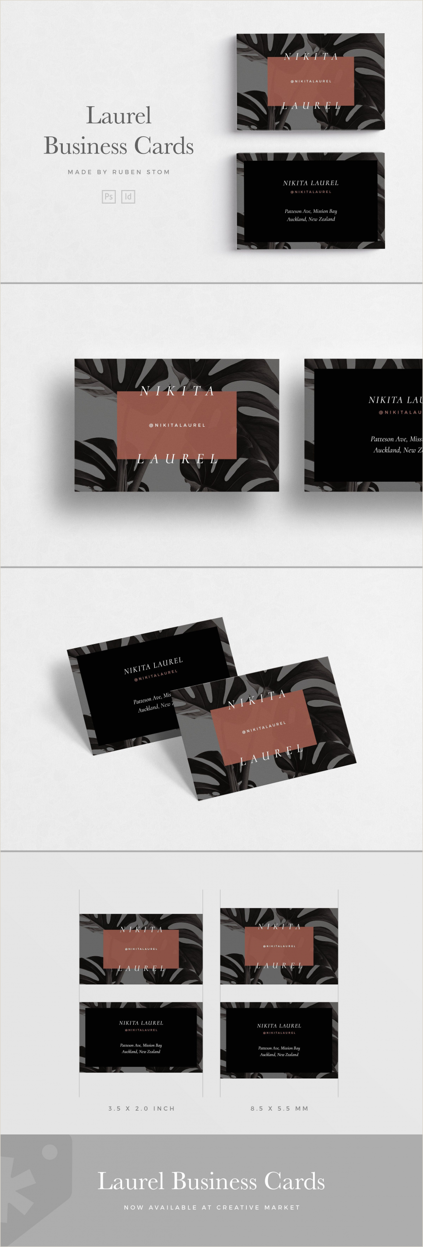 Business Cards Beautiful Unique Nature Water 60 Best ✏ Business Card Templates Images