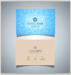 Business Cards Beautiful Unique Nature Water Business Card Water Vector Over 17 000