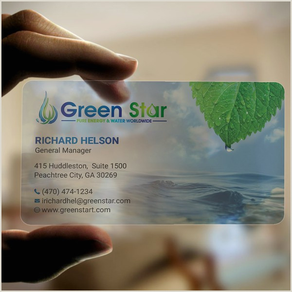 Business Cards Beautiful Unique Nature Water Clean Water & Energy For 3rd World Countries Design A Clear