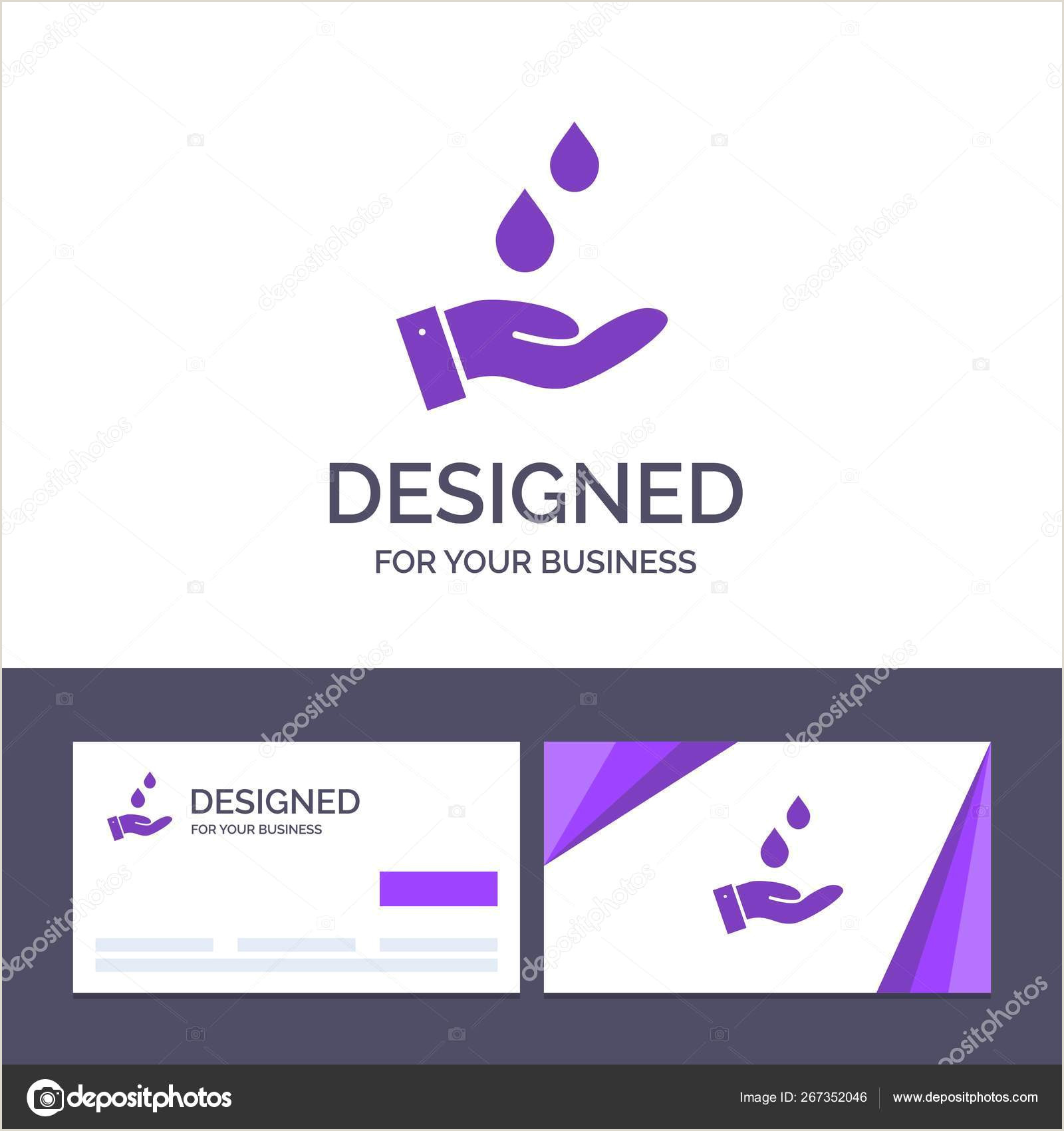 Business Cards Beautiful Unique Nature Water Creative Business Card And Logo Template Purified Water Energy