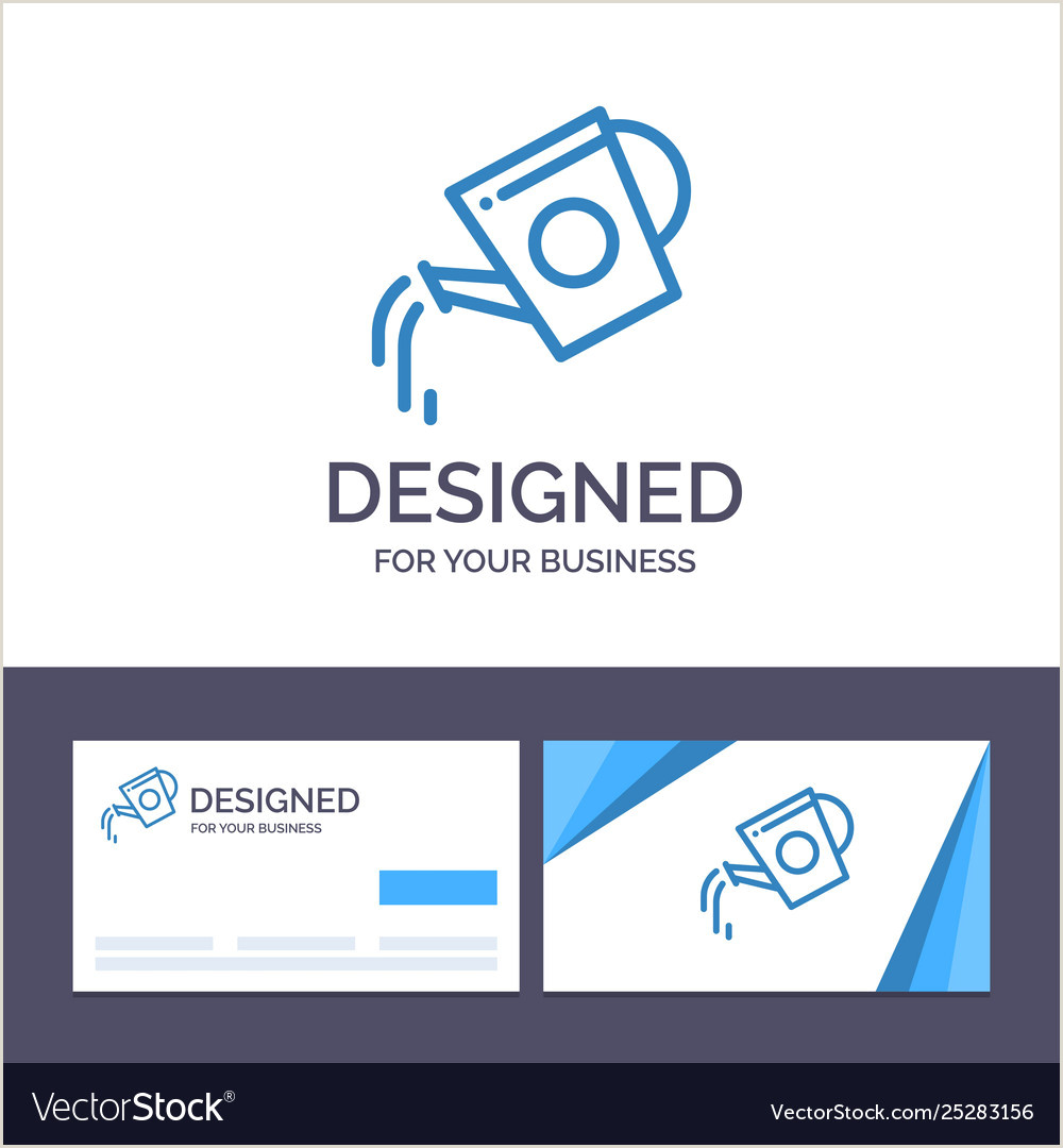 Business Cards Beautiful Unique Nature Water Creative Business Card And Logo Template Water Vector Image