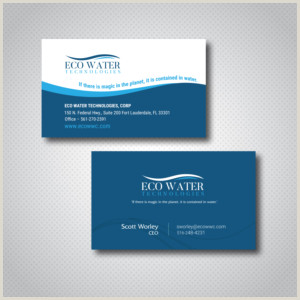 Business Cards Beautiful Unique Nature Water Water Business Cards