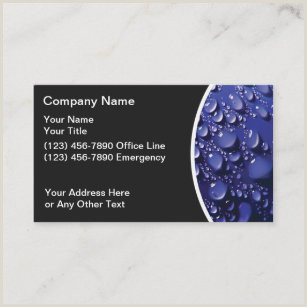 Business Cards Beautiful Unique Nature Water Water Theme Business Cards Business Card Printing